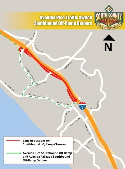 Detours for Northbound drivers.