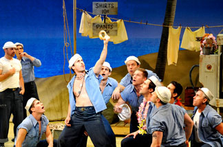 "Cast of the national tour of the Lincoln Center production of Rodgers & Hammerstein's ""South Pacific."""