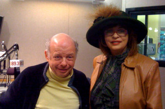 Wallace Shawn and Patt in-studio
