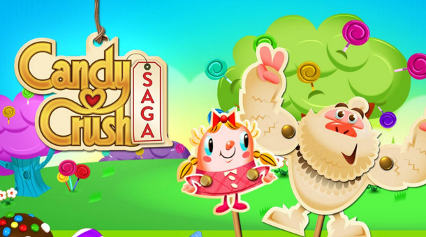 Screenshot of Candy Crush Saga logo from King Digital Entertainment PLC, on February 19, 2014.