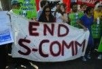 Anti-Secure Communities protesters in Los Angeles, August 15, 2011