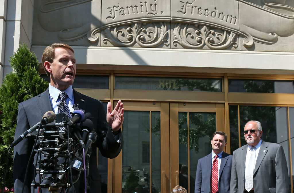 Tony Perkins, President of the Family Research Council, speaks at a press conference August 16, 2012 in Washington, DC.