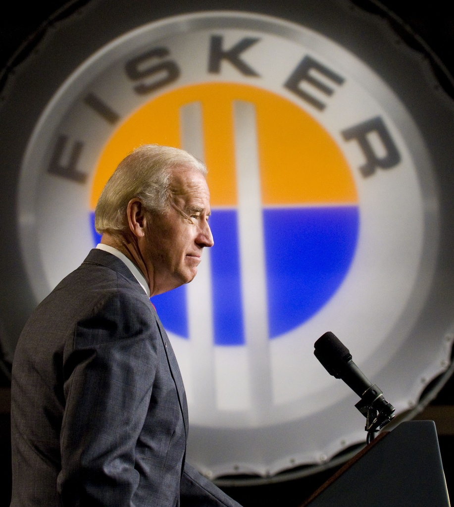WILMINGTON, DE - OCTOBER 27: U.S. Vice President Joe Biden speaks at the former GM Boxwood Plant on October 27, 2009 in Wilmington, Delaware. Fisker Automotive announced that the company is buying the plant to produce affordable plug-in hybrid automobiles. (Photo by Jeff Fusco/Getty Images) *** Local Caption *** Joe Biden