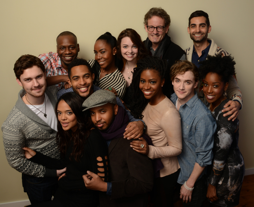 Cast and crew pose for a portrait during the 2014 Sundance Film Festival at the Getty Images Portrait Studio at the Village At The Lift on January 20, 2014 in Park City, Utah.