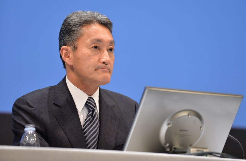 Sony President and CEO Kazuo Hirai listens to a question during a press briefing to announce the company's financial results in Tokyo on February 6, 2014. Sony on February 6 warned it would book a whopping USD 1.08 billion annual loss as it cuts 5,000 jobs and exits the stagnant PC market this year, with the once-mighty electronics giant struggling to reinvent itself in the digital age.