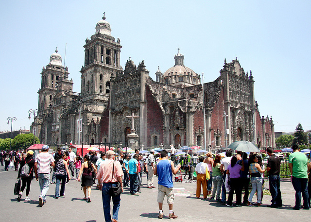 The Mexico City Metropolitan Cathedral in Mexico City.