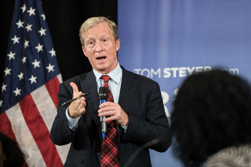 Tom Steyer Holds Event In Charleston, South Carolina