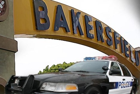 A Bakersfield Police Department patrol vehicle.