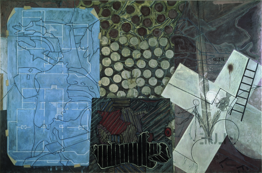 Jasper Johns, Untitled, 1992–4. Encaustic on canvas. Broad Collection