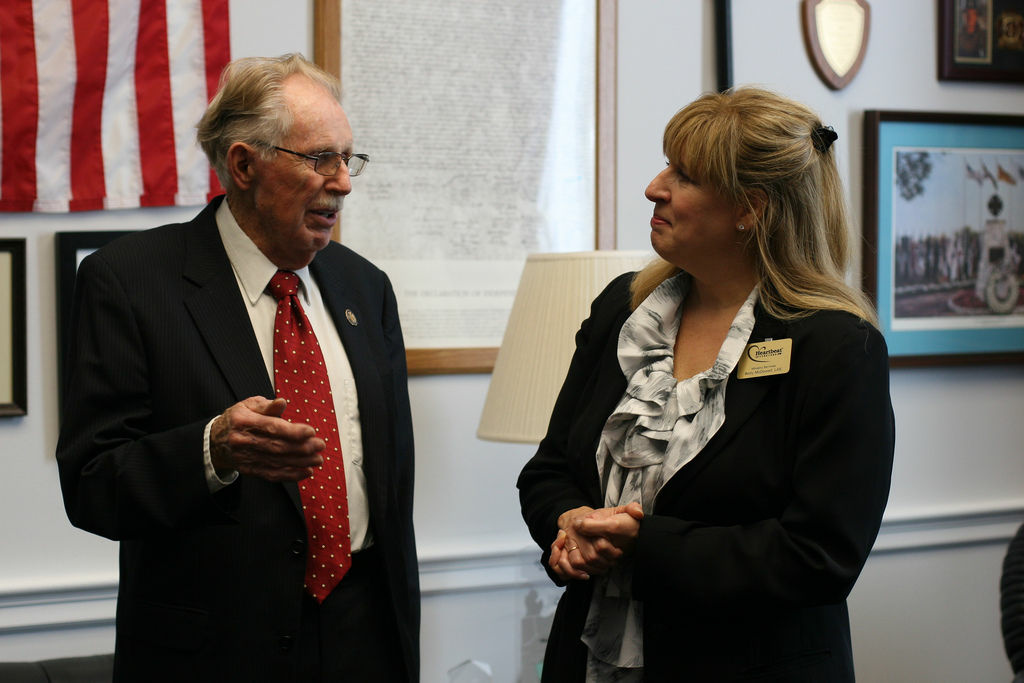 Rep. Roscoe Bartlett, R-Md.(left) after two decades in Congress, a redrawn district has put his re-election in question.
