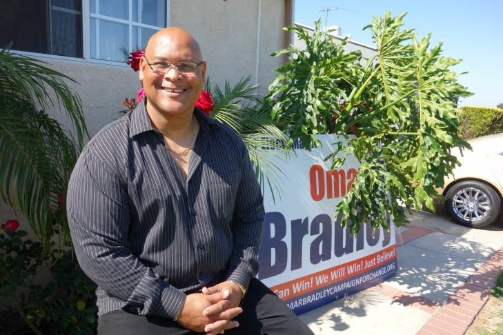 Omar Bradley, who served as Compton's mayor from 1993 to 2001, is on the ballot again for mayor. The election is June 4.