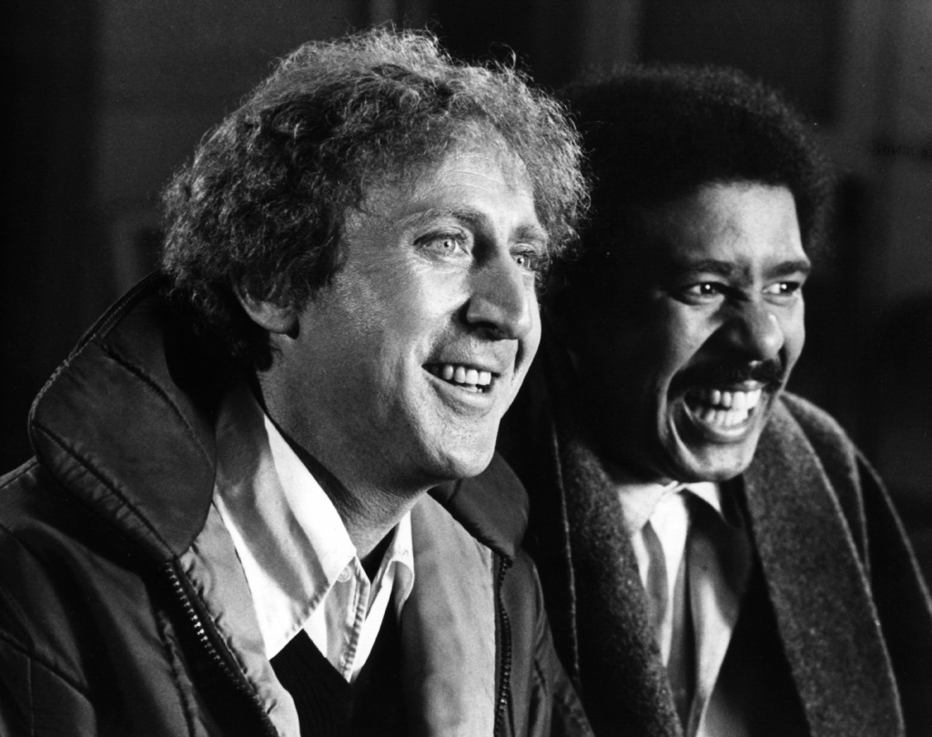 File: American comic actor Gene Wilder, originally Jerry Silkman, stars with comedian Richard Pryor in the action comedy