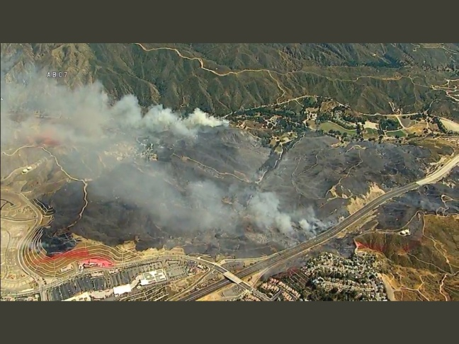 The Placerita Fire burns in the Santa Clarita Valley on Sunday, June 25, 2017.