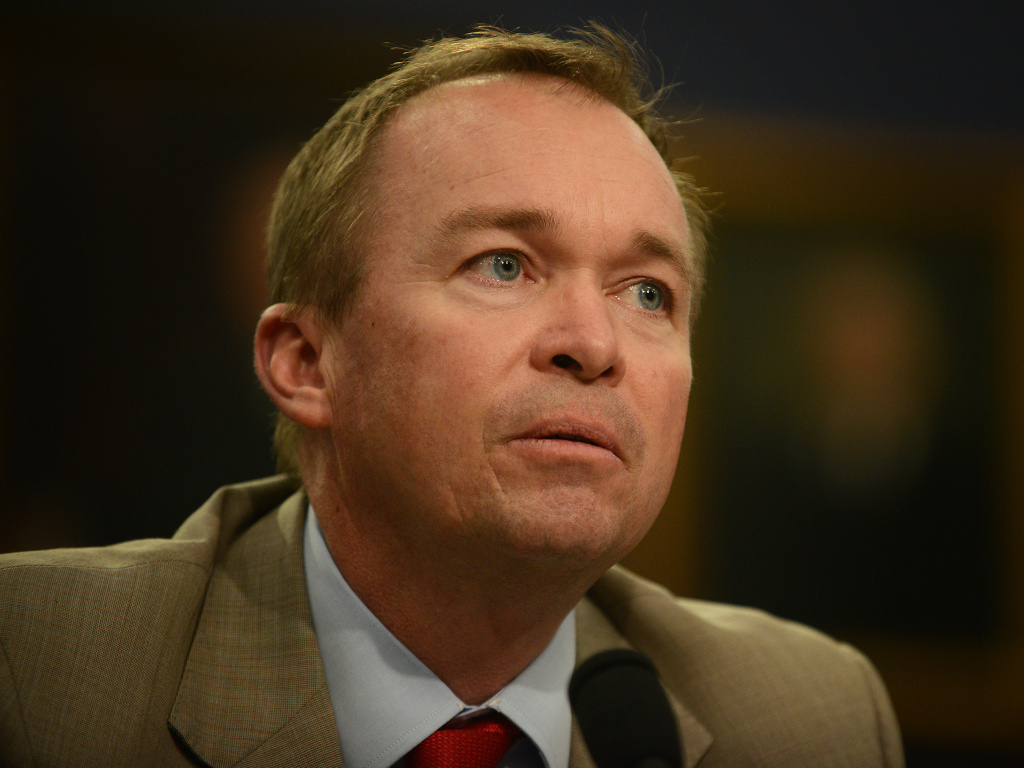 Mick Mulvaney, director of the Office of Management, was named acting director of the Consumer Financial Protection Bureau.