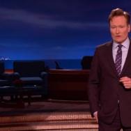 "Conan O'Brien in a screen shot from the Wednesday, Jan. 8, 2015 edition of ""Conan."""