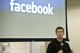 Any rewrite of federal privacy law is sure to affect big companies like Google and Facebook. Above, Mark Zuckerberg, chief executive officer of Facebook, holds a press conference at their headquarters to outline new privacy control methods.