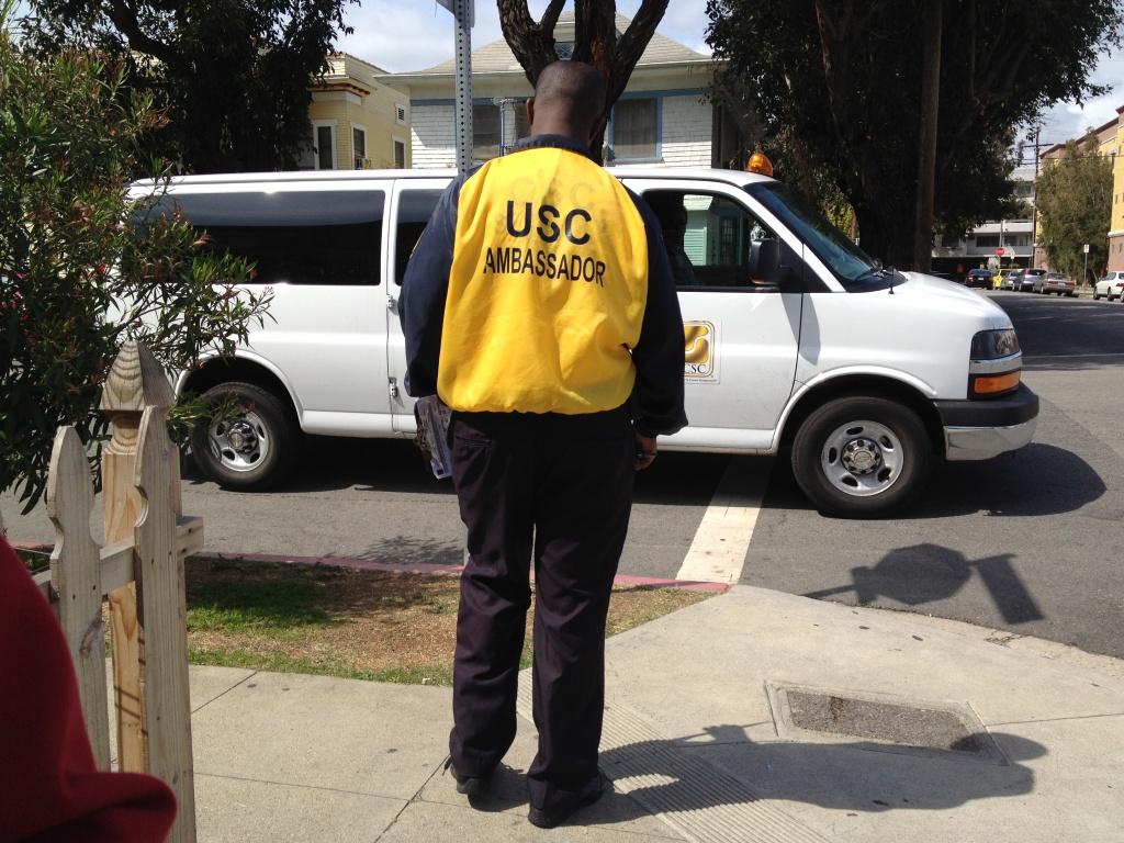 The USC Department of Public Safety contracts with a private company to offer