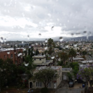 View of Hollywood from Silver Lake after light showers.