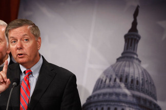 Sen. Lindsey Graham (R-SC) crossed party lines to vote yes on Kagan.