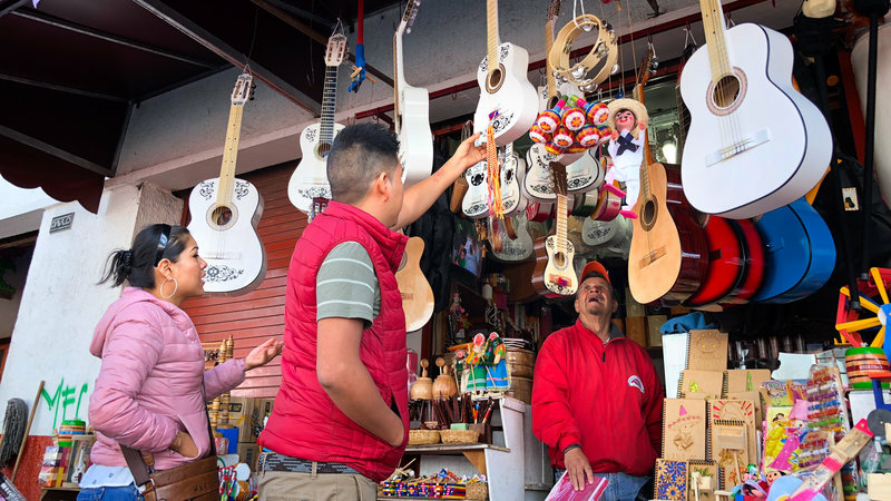 Guitars, especially white-painted ones, in the Mexican town of Paracho are selling fast thanks to