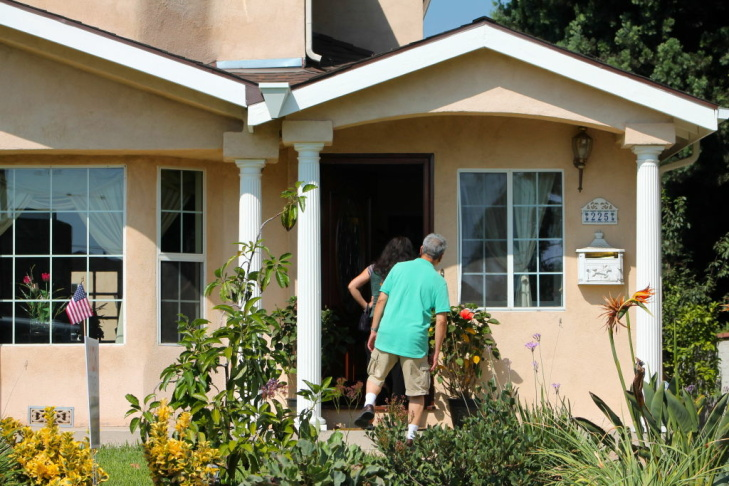Realtors say now is the time to sell when there are more buyers than there are homes for sale in the Los Angeles area. Teles Properties held an open house for an Arcadia house last Sunday.