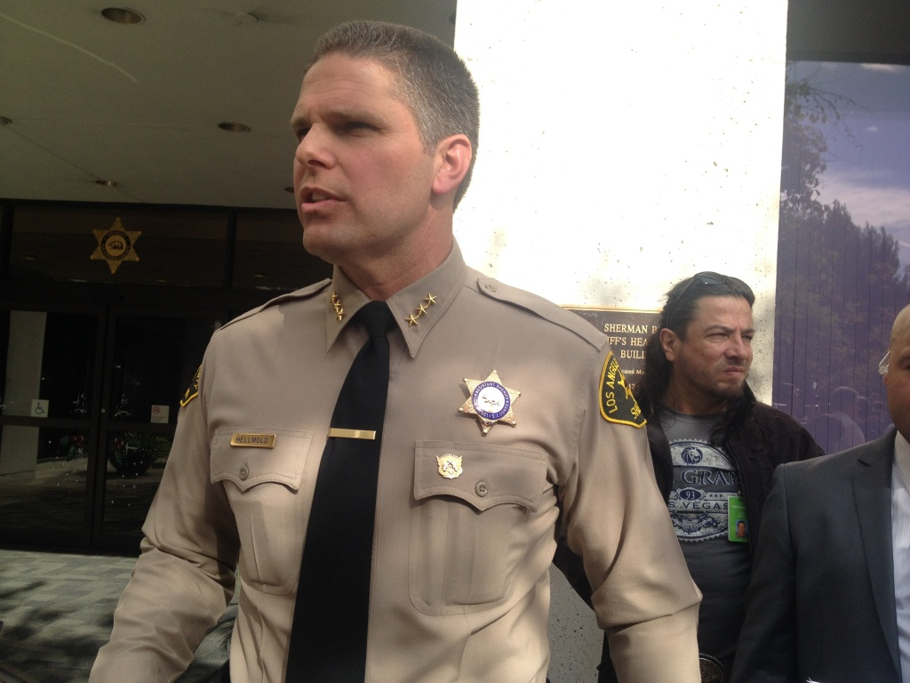 LA County Assistant Sheriff James Hellmold announced his candidacy for L.A. County Sheriff Thursday, January 16, 2014.