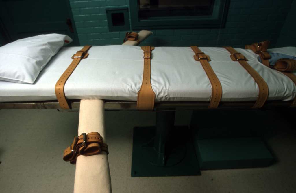 The Texas death chamber in Huntsville, TX, June 23, 2000 where Texas death row inmate Gary Graham was put to death by lethal injection on June 22, 2000.