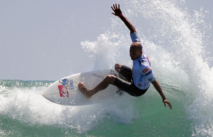 Kelly Slater of the US competes in the f