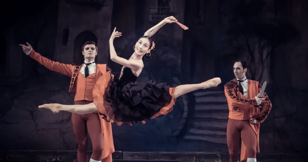 Dancers perform in the National Ballet of Ukraine's interpretation of