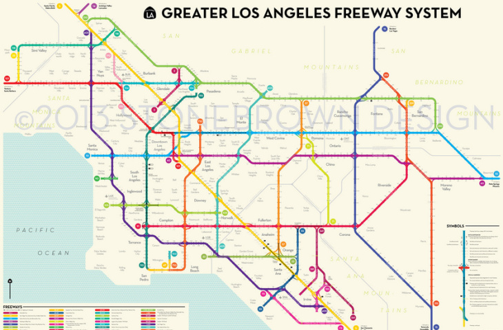 la freeway map