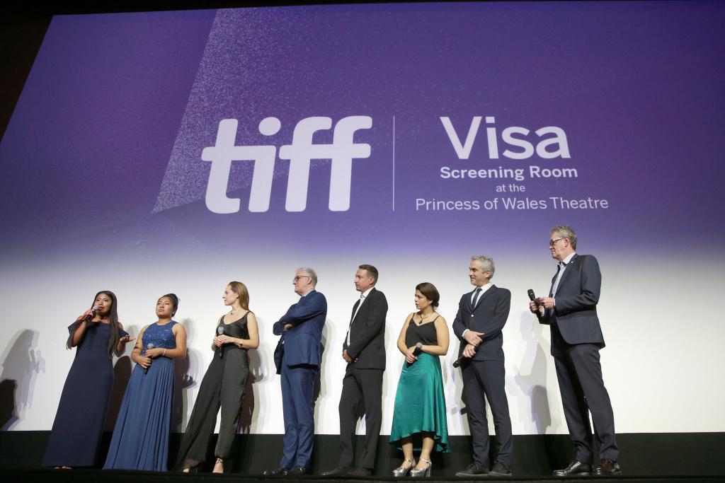 Yalitza Aparicio, Marina De Tavira, Nancy Garcia, David Linde, Nicolas Celis, Gabriela Rodriguez, Alfonso Cuaron and Piers Handling attend the