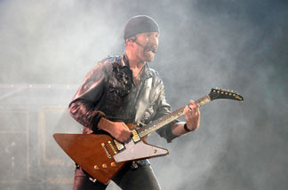 File photo: The Edge of U2 performs on stage at Etihad Stadium on December 1, 2010 in Melbourne, Australia.