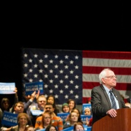 Democratic presidential candidate Bernie Sanders speaks during a rally in Dearborn, Michigan, March 7.
