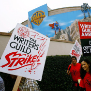 Hollywood Writers Go On Strike