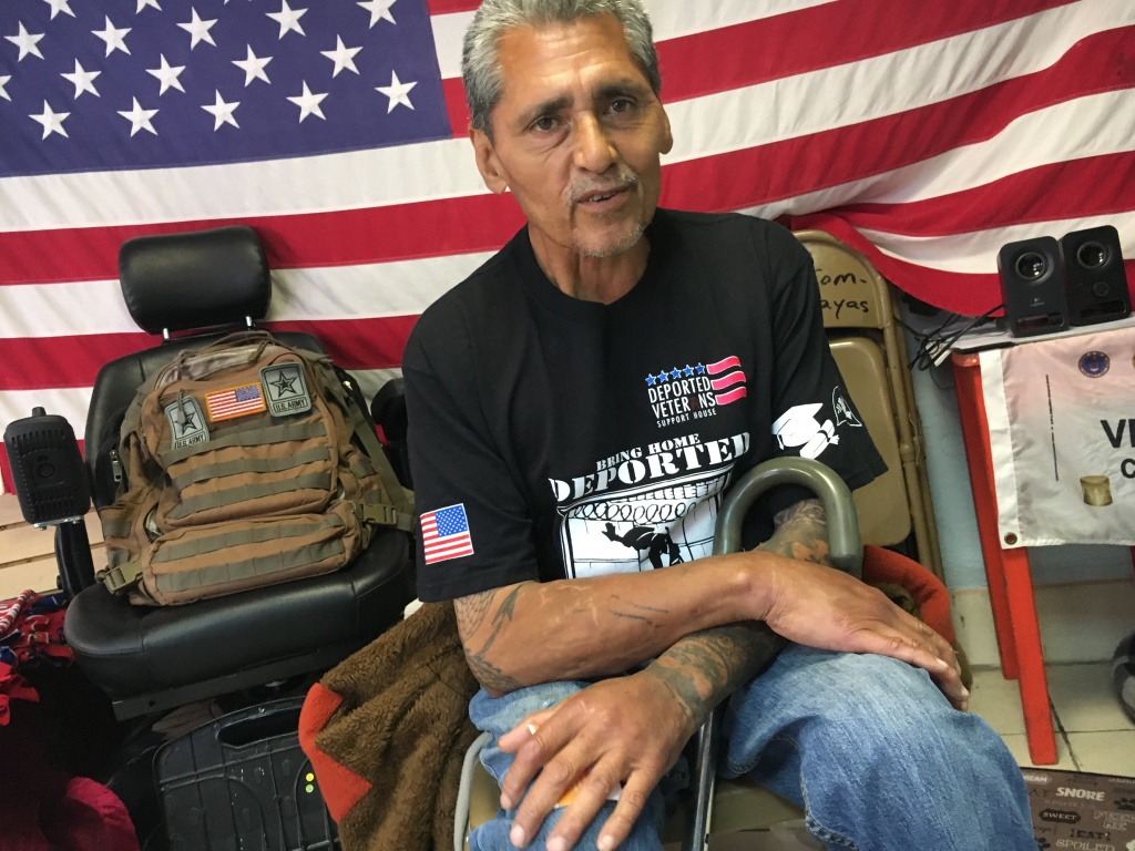 Marine veteran Jesus Juarez, 61, is trying to find a way to reunite with his family in San Diego after a criminal record, including a 1997 drug possession conviction, led to his deportation to Mexico.