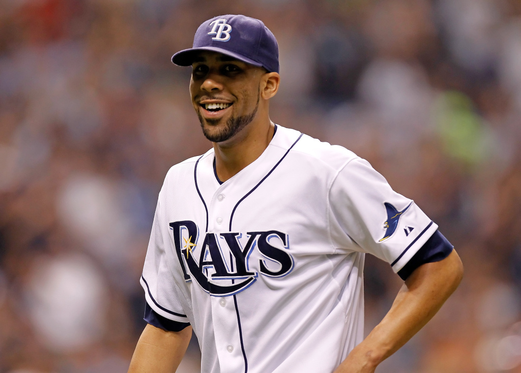Pitcher David Price of the Tampa Bay Rays in happier times.