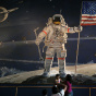 People Look At Apollo 11 Exhibit The Day Of Neil Armstrong Funeral