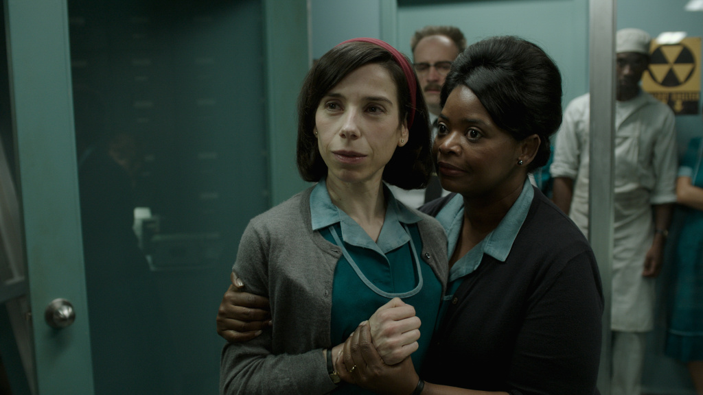Sally Hawkins and Octavia Spencer in Fox Searchlight's THE SHAPE OF WATER. Both actresses have been nominated for academy awards this year for their performances in the film.