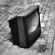 television on the sidewalk