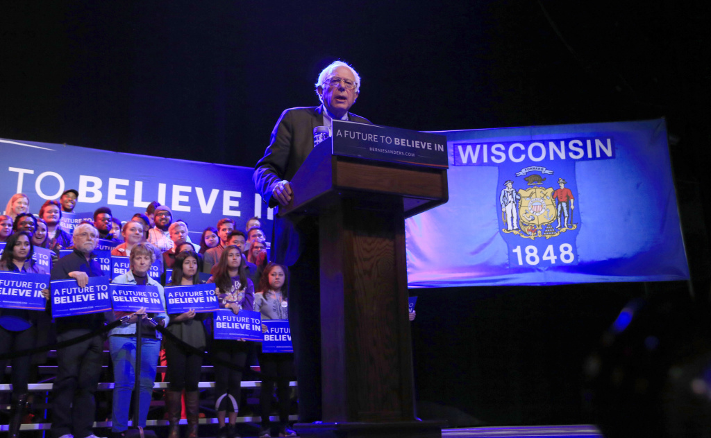 Democratic Presidential candidate Sen. Bernie Sanders (D-VT) speaks at an event March 30, 2016 in Madison, Wisconsin.