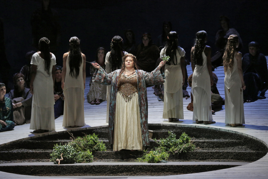 Angela Meade in the title role of LA Opera's 2015 production of