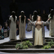 "Angela Meade in the title role of LA Opera's 2015 production of ""Norma"" (Photo courtesy LA Opera)."