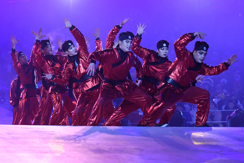 Dancers perform during the Opening Ceremony of the Pyeongchang 2018 Winter Olympics on February 9, 2018.