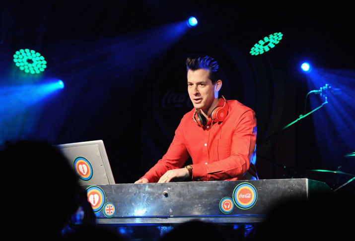 Mark Ronson performs with support from Lily Allen at Red Bull Revolutions in Sound on the EDF Energy London Eye, a celebration of UK club culture with 30 of the most legendary club nights in 30 capsules and streamed live on revolutionsinsound.com on Nov. 14, 2013 in London, England.