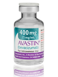 A bottle of Avastin, a breast cancer drug.