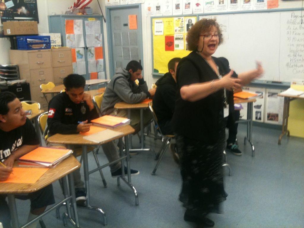 San Pedro High School teacher Ida Lanza is creating an