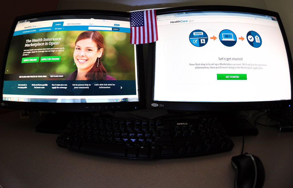 This October 21, 2013 photo shows the US government internet health insurance exchange Healthcare.gov. US President Barack Obama on Monday defended his problem-plagued health reform plan, declaring at a White House event that, despite numerous glitches, the program is already helping many uninsured Americans. 'Let me remind everybody that the Affordable Care Act is not just a website,' Obama said, after the troubled online rollout of the plan.