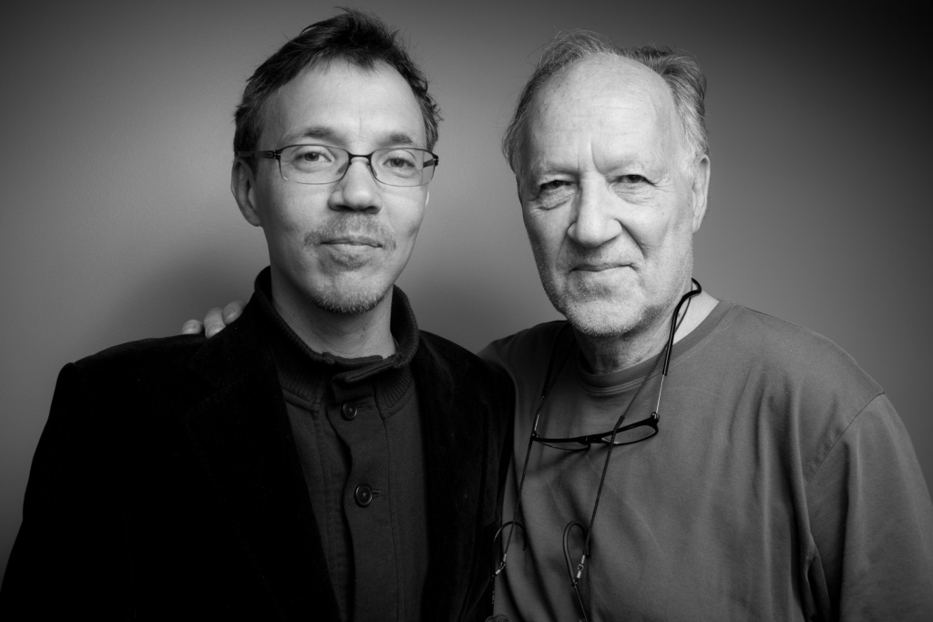 Rudolph and Werner Herzog at KPCC.