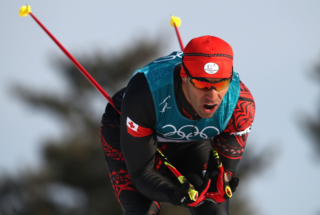 Pita Taufatofua of Tonga — who grabbed attention by marching shirtless as his country's flag-bearer in the Olympics opening ceremony — came in 114th in the men's cross-country skiing 15-kilometer race. Taufatofua, who had been skiing on snow for only three months, finished ahead of two other skiers at the 2018 Pyeongchang Winter Olympics.