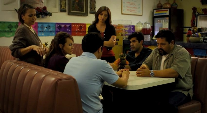 Still from the YouTube telenovela Sin Vergüenza.
